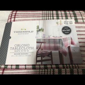 Threshold Tablecloth Holiday plaid Tablecloth